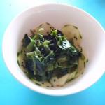 Ensalada de pepino y alga wakame / Cucumber and wakame salad