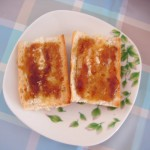 Tostadas con miel y naranja / Honey & orange toasts