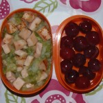Bento de judías verdes y pavo – Green beans and turkey Bento