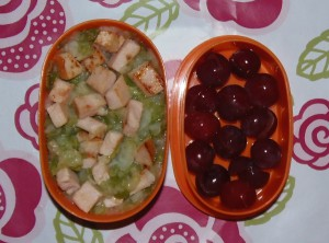 Bento de judías verdes y pavo - Green beans and turkey Bento