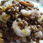 Ensalada templada de lentejas – Lentil warm salad
