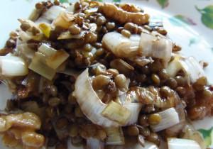 Ensalada templada de lentejas - Lentil warm salad