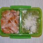 Bento de salmón y crema de brócoli – Salmon and broccoli cream bento