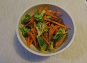 Salteado de brócoli, zanahoria y shiitake - Broccoli, carrot and shiitake sauté